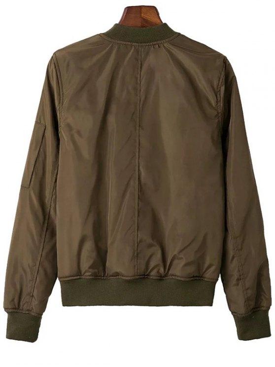 Zip Pocket Sport Jacket - ARMY GREEN L Mobile