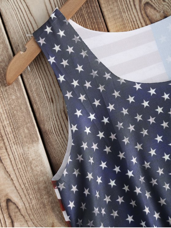 American Flag Print Tank Top - COLORMIX ONE SIZE(FIT SIZE XS TO M) Mobile