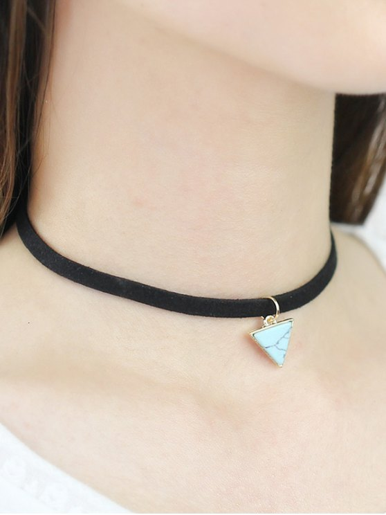 lady Faux Rammel Triangle Choker - GREEN