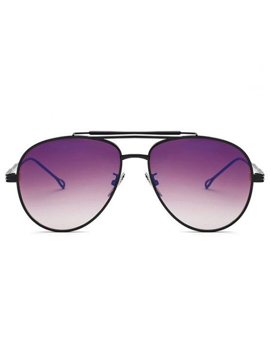 Ombre Lens Crossbar Pilot Sunglasses - BLACK  Mobile