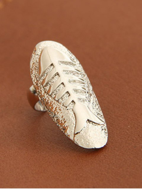 unique Embossed Fishbone Nail Rings - SILVER AND GOLDEN  Mobile