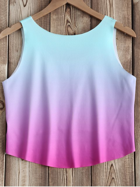 women Letter Print Ombre Top - COLORMIX ONE SIZE(FIT SIZE XS TO M) Mobile