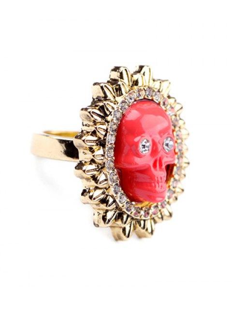 ladies Rhinestone Sun Skull Ring - LAKE  Mobile