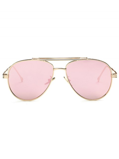 online Ombre Lens Crossbar Mirrored Pilot Sunglasses - PINK  Mobile
