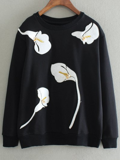 Patched Sweatshirt - BLACK S Mobile