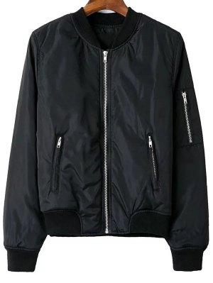 Zip Pocket Sport Jacket - Black