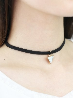 Faux Rammel Triangle Choker - White