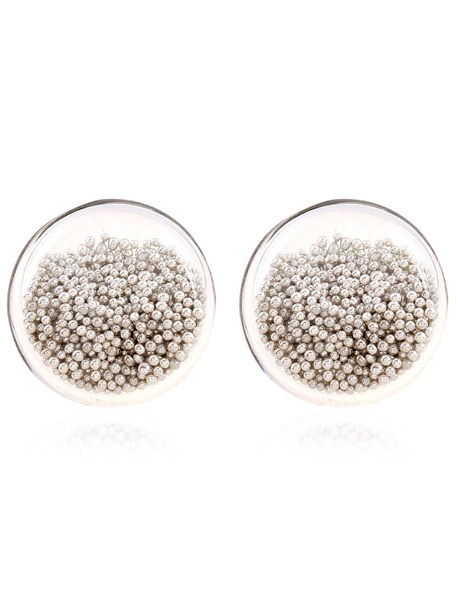 Transparent Beads Stud Earrings