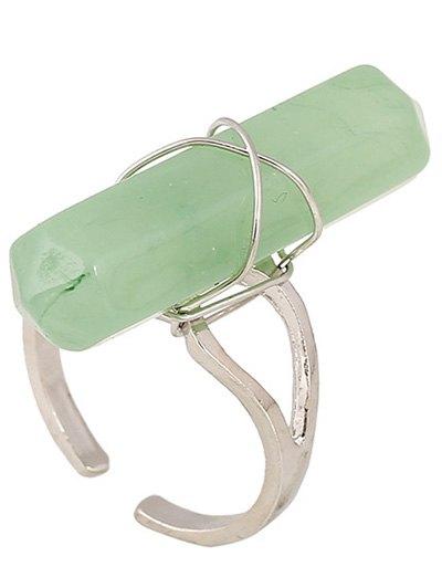 Faux Gemstone Open Ring