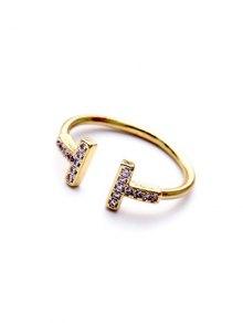 Mini Rhinestone Cut Out Ring