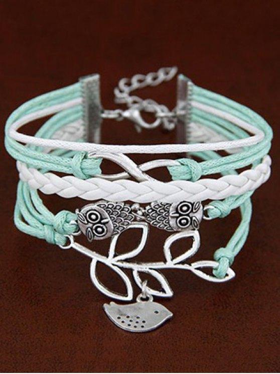 Owl Birdie Infinity Braided Bracelet - COLORMIX  Mobile