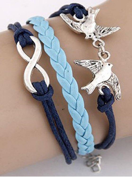 Swallows Braided Bracelet - BLUE  Mobile