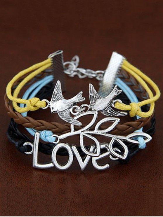 Peace Dove Braided Bracelet - COLORMIX  Mobile