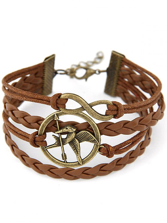 Bird Infinity Braided Bracelet -   Mobile