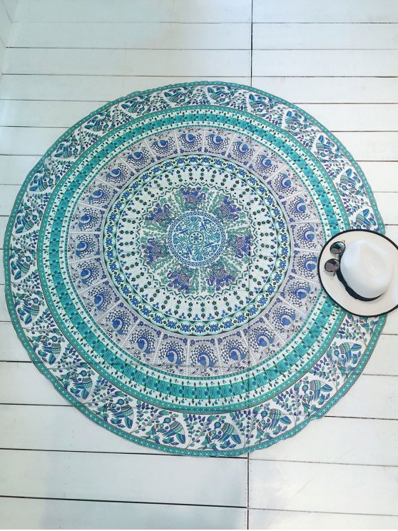 Printed Round Shape Convertible Beach Throw - COLORMIX ONE SIZE Mobile