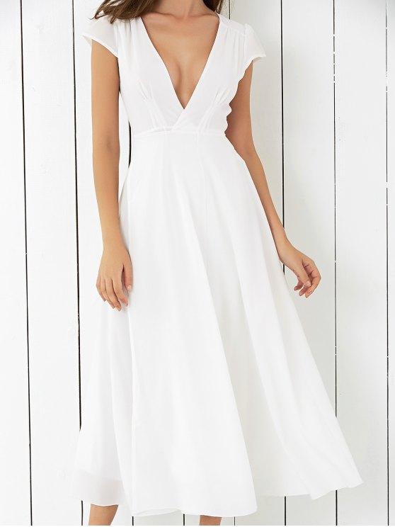 new Wrap Tie Maxi Beach Dress - WHITE S