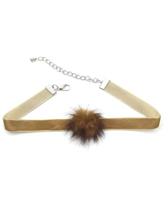 Collar Gargantilla poco Pom Pom - Color bronce