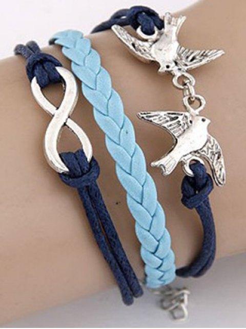 new Swallows Braided Bracelet - BLUE  Mobile