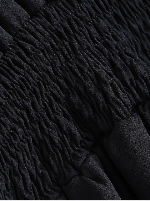 buy Lace Spliced Cami Cut Out Black Dress - BLACK M Mobile