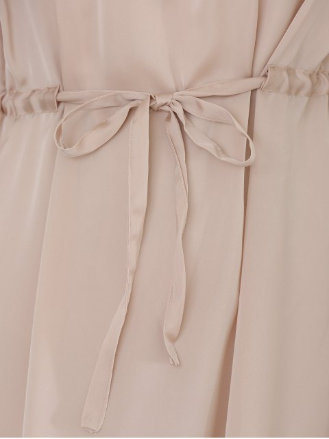online Gray Sleeveless Backless Maxi Dress - GRAY M Mobile