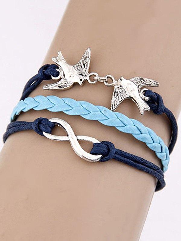 Swallows Infinity Braided Bracelet
