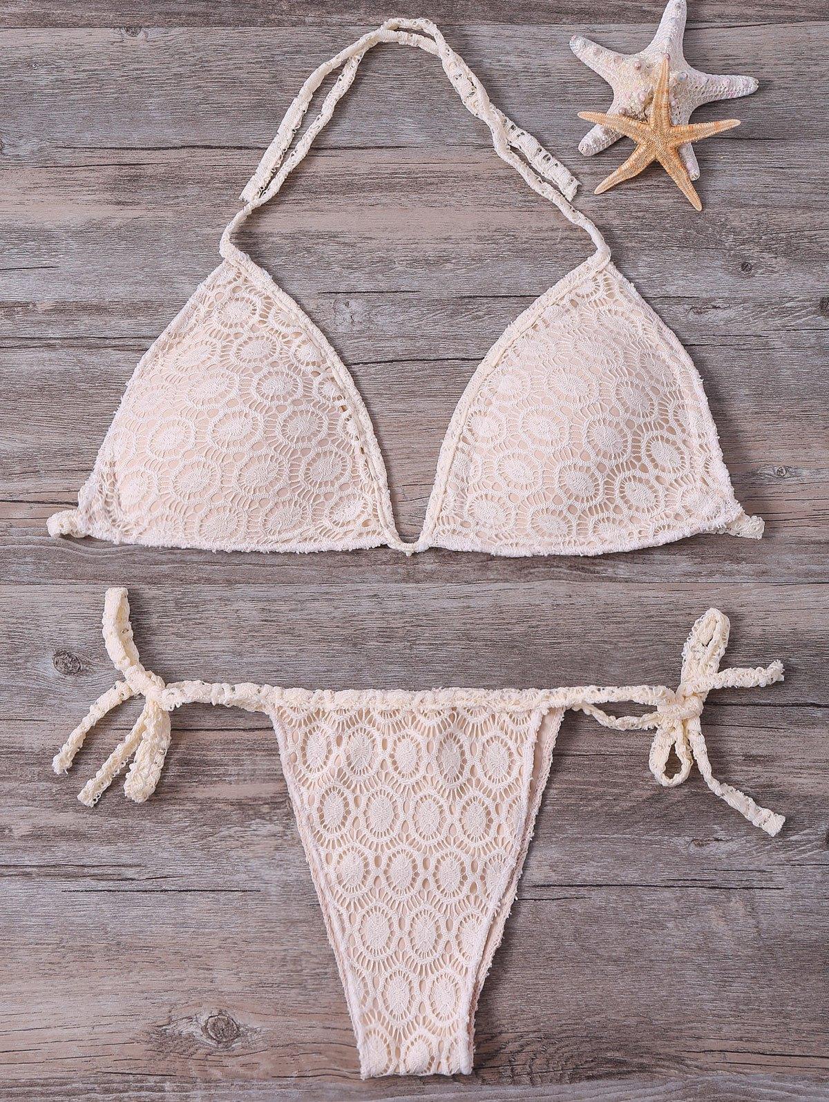 Halter Lace String Bikini Set
