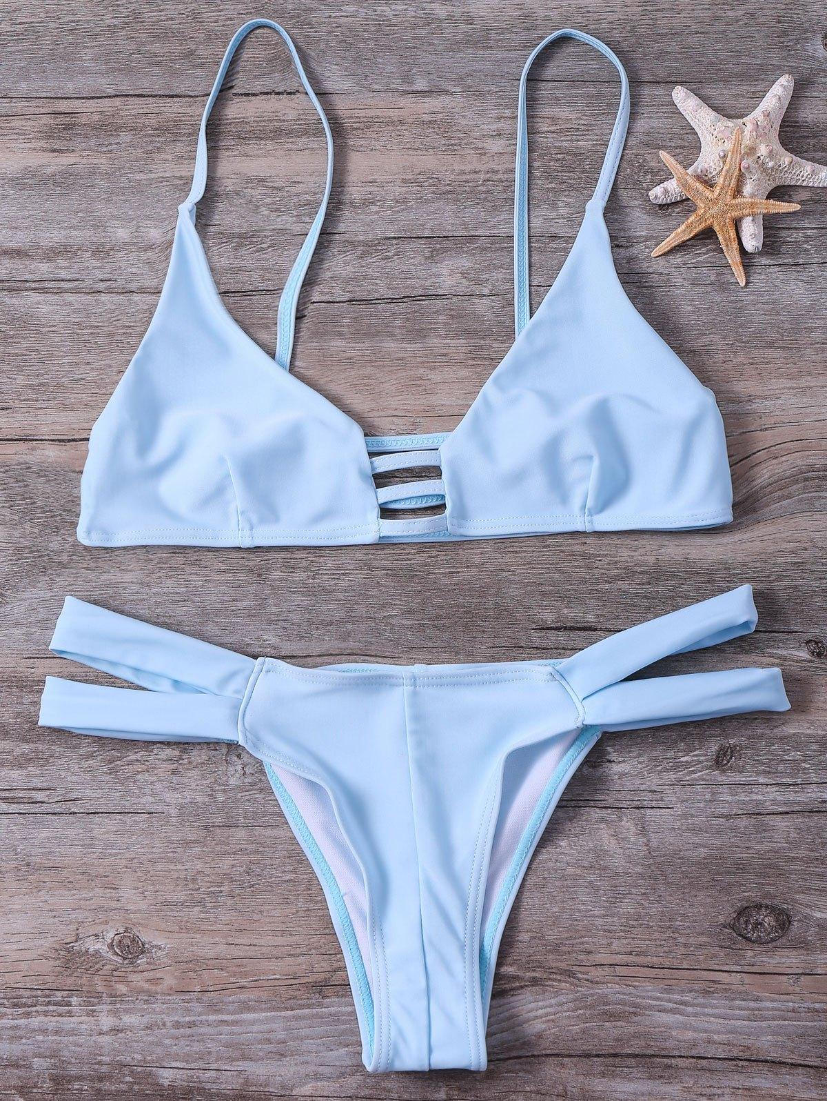 Cami Solid Color Bikini Set 193035303