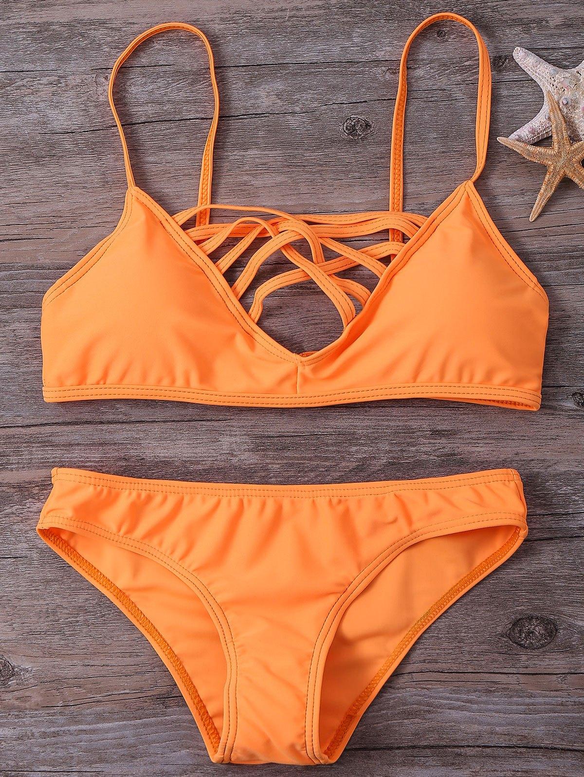 Cami Hollow Out  Bikini Set
