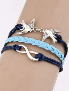 Swallows Braided Bracelet - Blue