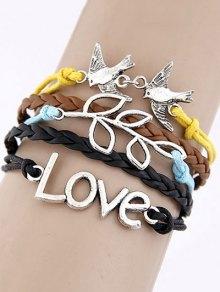 Buy Peace Dove Braided Bracelet - COLORMIX
