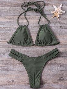 Buy Cut Halter Bikini Set