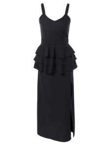 Peplum Maxi Dress