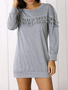 Fringed Sweatshirt Dress