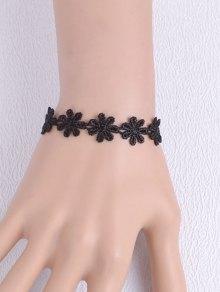 Artificial Lace Blossom Woven Bracelet