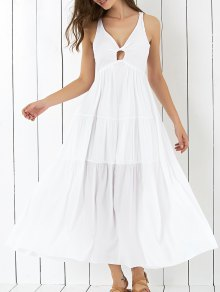 Cross Back Tiered Empire Waist Dresses
