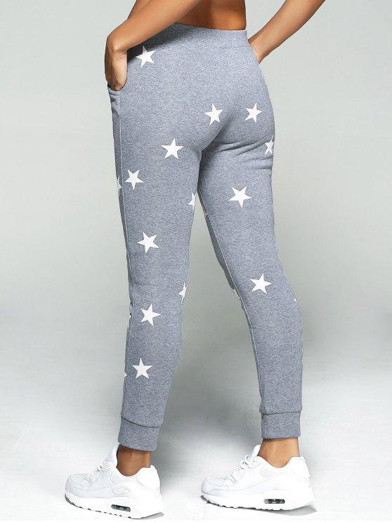 Star Print Sport Pants - GRAY M Mobile