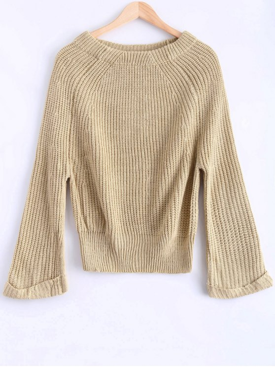Épaule Off Chunky Sweater - Abricot TAILLE MOYENNE