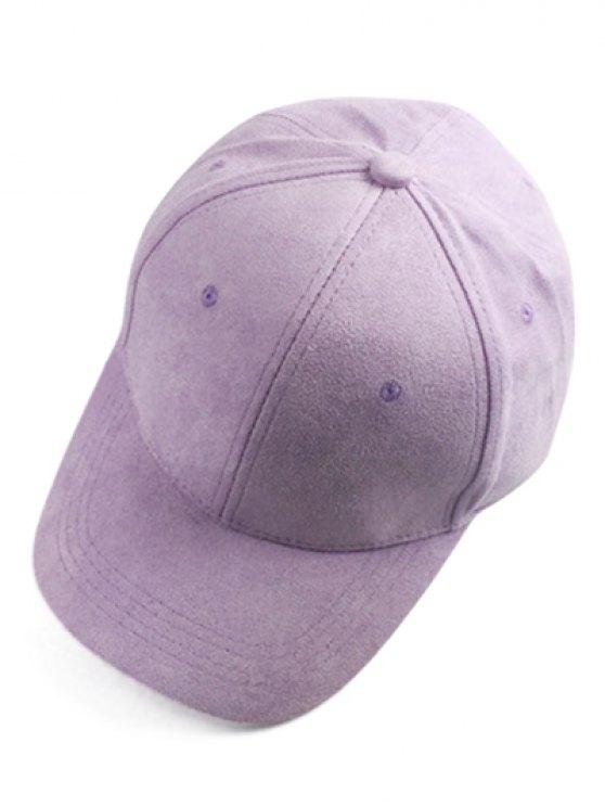 Breve gamuza sintética sombrero de béisbol - Morado Claro