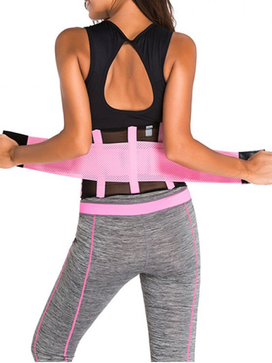 Hook and Loop Waist Trainer Corset - PINK M Mobile