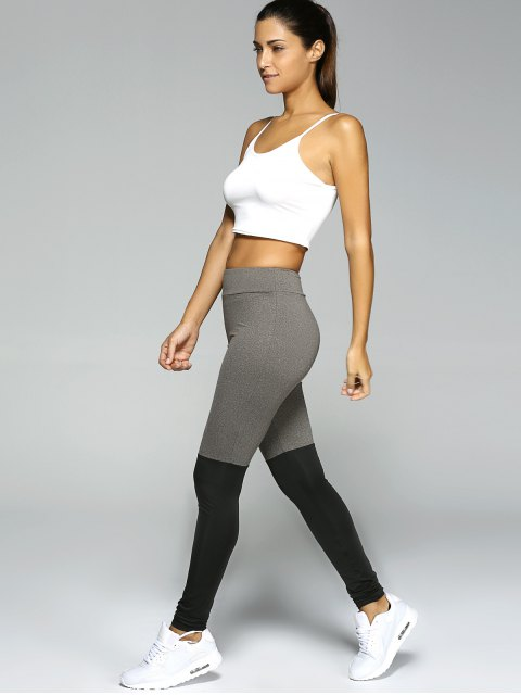 latest Stretchy Sport Leggings - BLACK AND GREY L Mobile