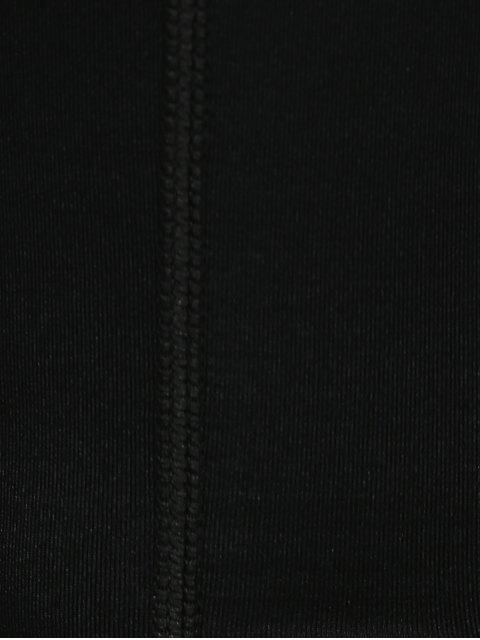 online Lace Up Capri Workout Sport Pants - BLACK L Mobile