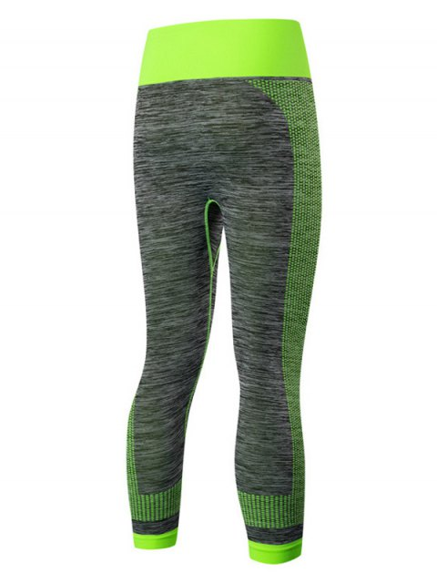 womens Sport Capri Running Leggings - GREEN L Mobile
