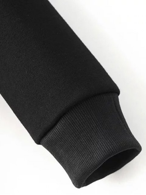 new Round Neck Number Print Sweatshirt - BLACK L Mobile