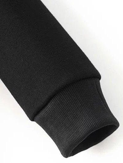 Round Neck Number Print Sweatshirt - BLACK M Mobile