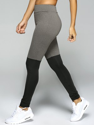 Stretchy Sport Leggings - Black And Grey
