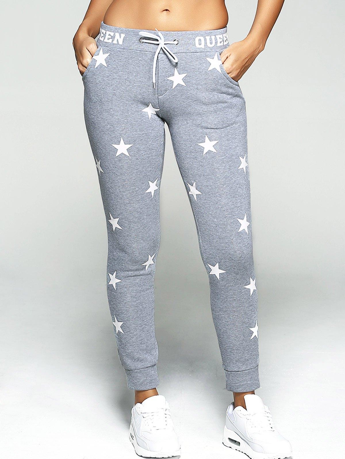 Pantaloni sport de damă, cu imprimeu