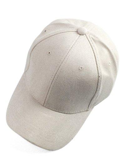 casquette de baseball en faux su de protection solaire couleur blanc cass zaful. Black Bedroom Furniture Sets. Home Design Ideas