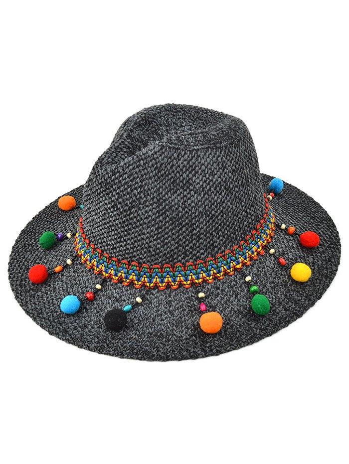 Pompon Pendant Knit Jazz Hat
