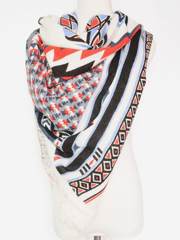 Bohemia Geometry Pattern Shawl Wrap Pashmina