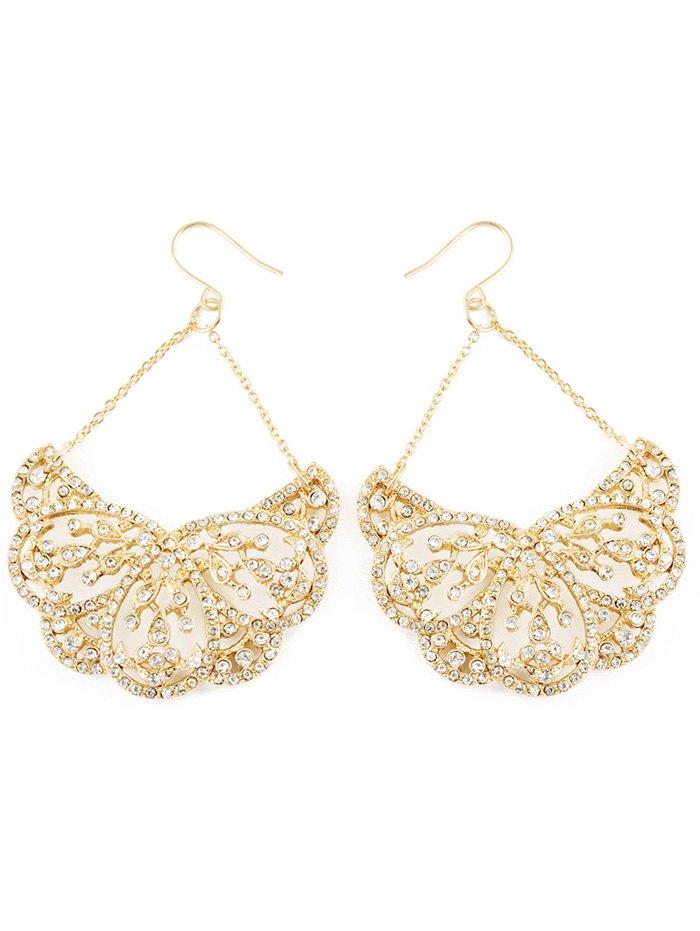 Rhinestoned Water Drop Wedding Jewelry Earrings